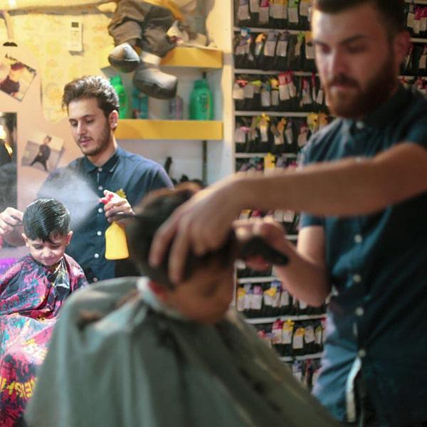 اصلاح موی کودک - آرایشگاه پازل در کرج و تهران
